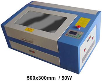 d4ce6388c Máquina de corte e gravação a laser Co2, ideal para corte de peças pequenas  e gravações de alta precisão. Nas opções com área de 500x300mm ou  600x400mm, ...